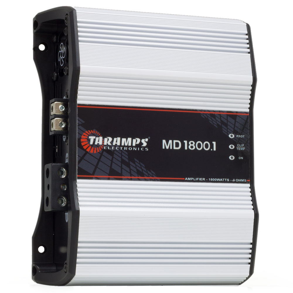 Módulo Amplificador Digital Taramps MD 1800 1 Canal 1800 Watts RMS 4 Ohms Som Automotivo