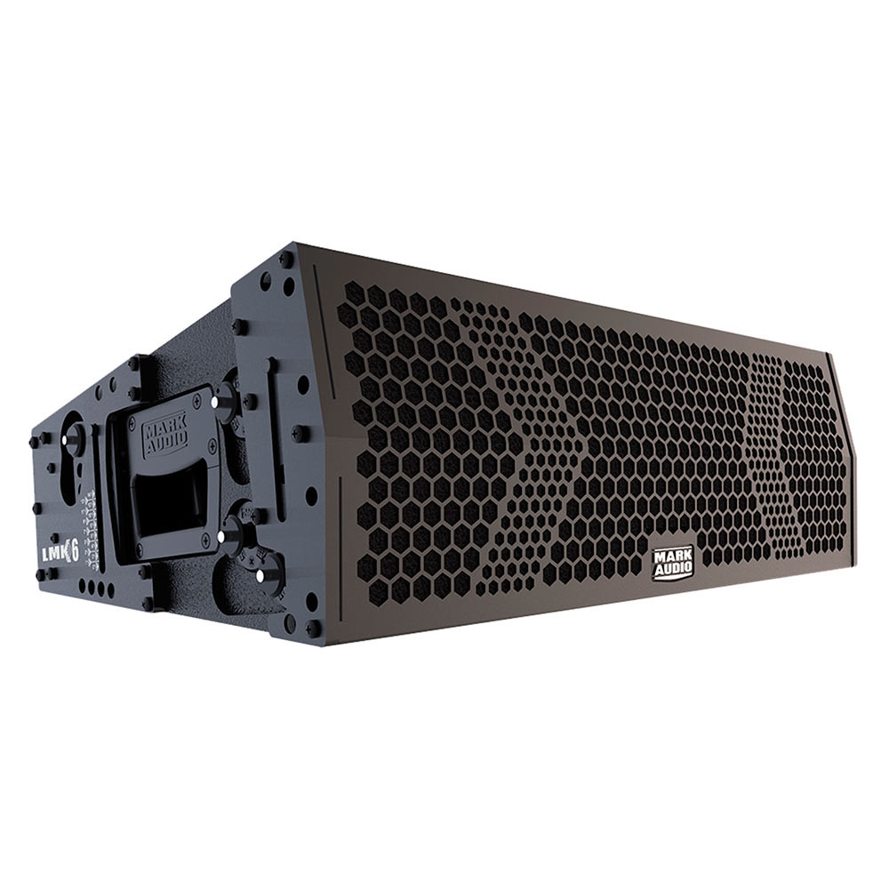 "Line Array Mark Audio LMK6 Ativa Digital 2x6"" + Driver - 765 Watts RMS Preta"