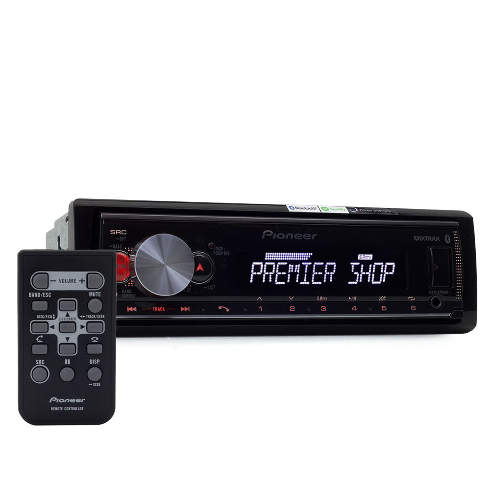 MP3 Player Automotivo Pioneer MVH-X700BR Flashing Light - USB, Aux e Bluetooth Outlet
