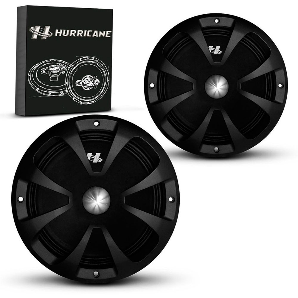 "Par de Woofers 8"" Hurricane MB800 600 Watts RMS"