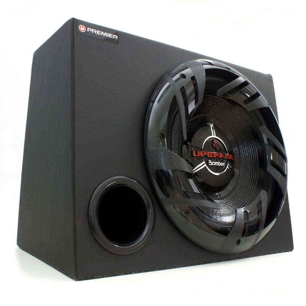 "Kit Caixa Bass com 1 Subwoofer 12"" Bomber Upgrade - 350 Watts RMS"