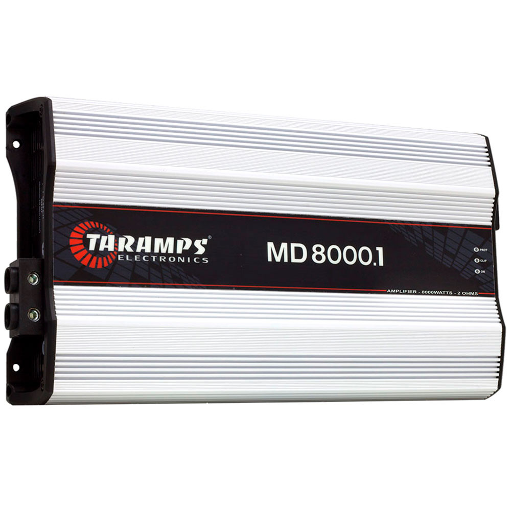 Módulo Amplificador Digital Taramps MD 8000 1 Canal 8000 Watts RMS 2 Ohms Som Automotivo