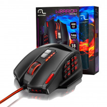 Mouse Warrior Gamer 18 Botões 4000 DPI USB Preto - MO206