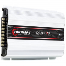 Módulo Amplificador Digital Taramps DS 800 3 Canais 800 Watts RMS 2 Ohms Som Automotivo