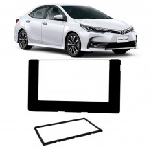 Moldura 2 Din Toyota Corolla 17/19 - Black Piano Acabamento Uv Protection