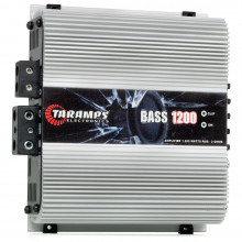 Módulo Amplificador Digital Taramps Bass 1200 1 Canal 1200 Watts RMS 2 Ohms Som Automotivo