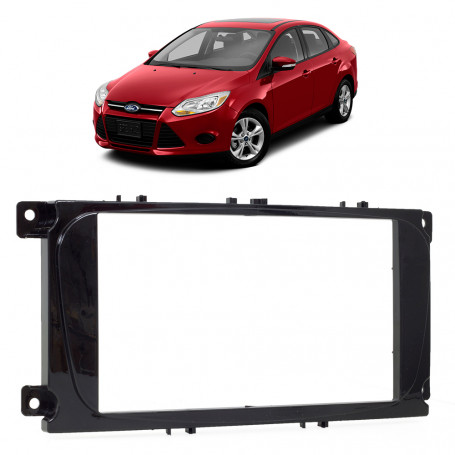 Moldura 2 Din Ford Focus 2009 a 2013 - Black Piano