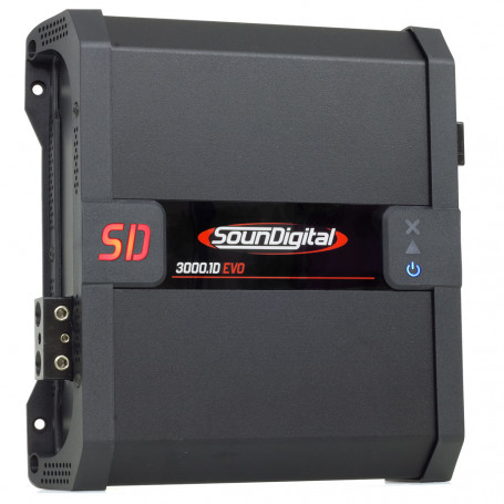 Módulo Amplificador Digital SounDigital SD3000.1D EVO 2.1 Black - 1 Canal - 3400 Watts RMS - 2 Ohms