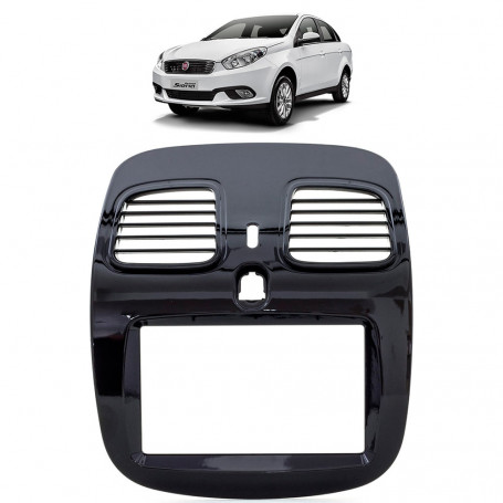 Moldura 2 Din Fiat Grand Siena - Black Piano