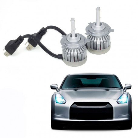 Kit Lâmpada Super LED Automotiva Multilaser H4 - 12V - 6200K - 30 Watts - AU834