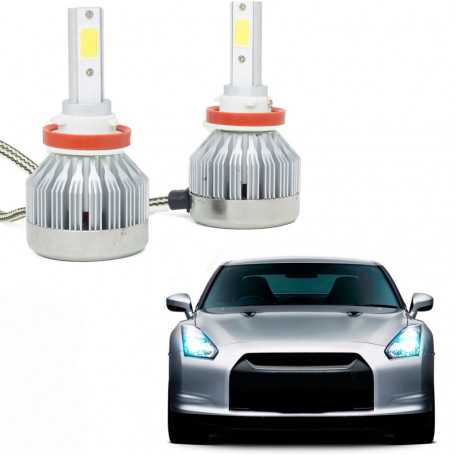Kit Lâmpada Super LED Automotiva Multilaser H8 - 12/24V - 6200K - 20 Watts - AU836