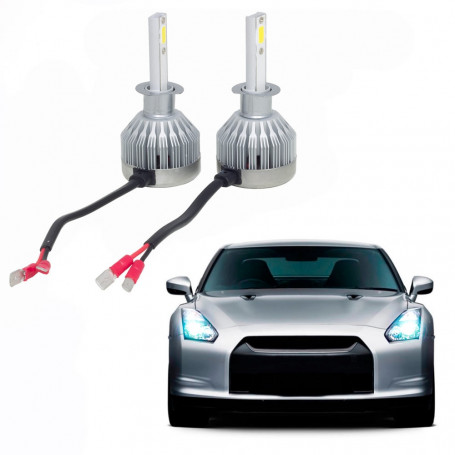 Kit Lâmpada Super LED Automotiva Multilaser H1 - 12V - 6200K - 30 Watts - AU832