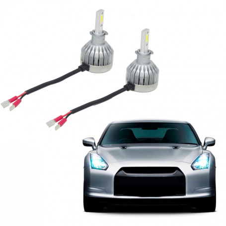 Kit Lâmpada Super LED Automotiva Multilaser H3 - 12V - 6200K - 30 Watts - AU833
