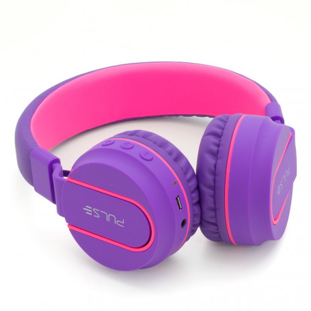Fone de Ouvido Pulse Fun Bluetooth Series Rosa e Roxo - PH217