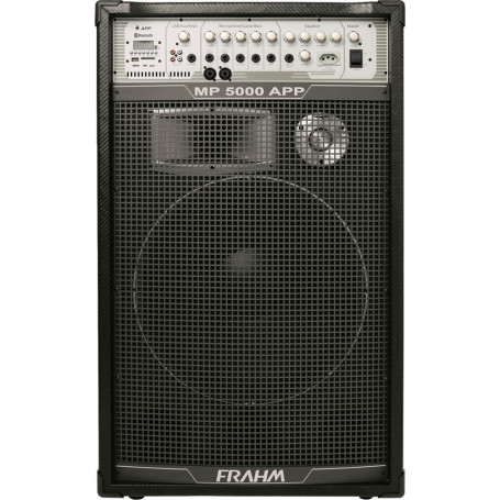 Caixa de Som Frahm MP 5000 APP Amplificada Multiuso USB, SD e Bluetooth - 500 Watts RMS