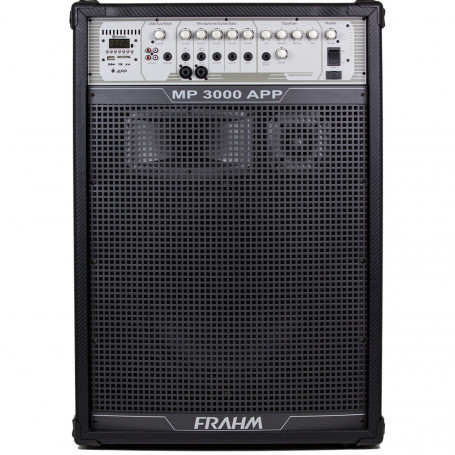 Caixa de Som Frahm MP 3000 APP Amplificada Multiuso USB, SD e Bluetooth - 300 Watts RMS