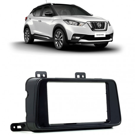 Moldura 2 Din Nissan Kicks - Black Piano