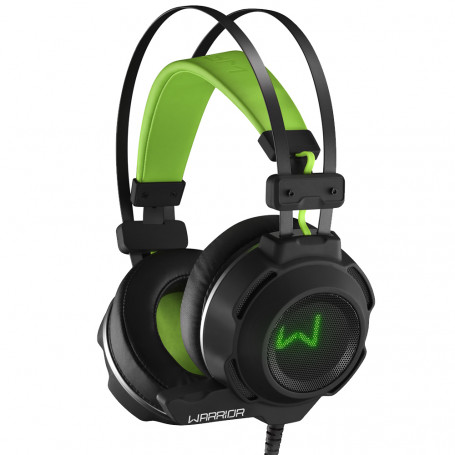 Fone de Ouvido Headset Warrior Gamer On Ear Arco USB e P2 Preto Verde - PH225