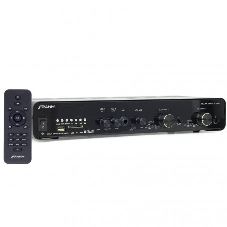 Receiver de Som Ambiente Frahm SLIM 2500 APP Multi-channel USB, SD, FM e Bluetooth - Até 24 Caixas