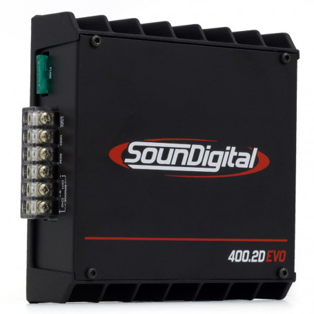 Módulo Amplificador Digital SounDigital SD400.2D EVO II Black - 522 Watts RMS - 2 Ohms