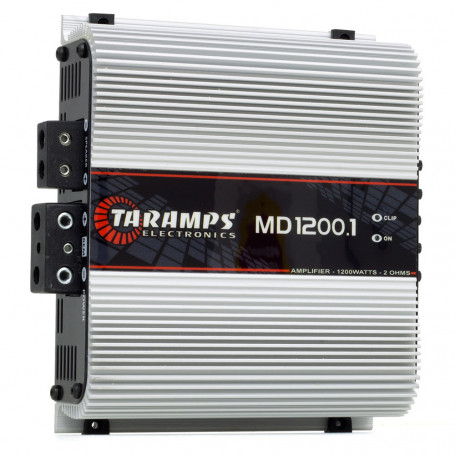 Módulo Amplificador Digital Taramps MD 1200 1 Canal 1200 Watts RMS 2 Ohms Som Automotivo