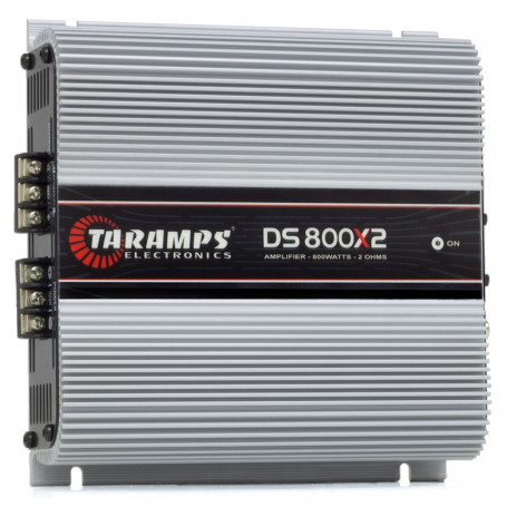 Módulo Amplificador Digital Taramps DS 800 2 Canais 800 Watts RMS 2 Ohms Som Automotivo