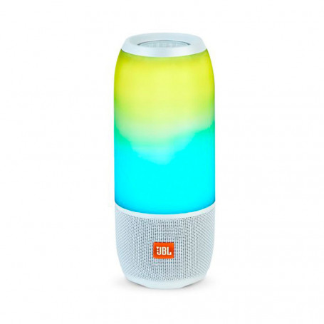 Caixa de Som Portátil JBL Pulse 3 LED Dinâmico Bluetooth Connect APP - Branca
