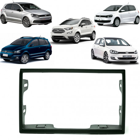 Moldura 2 Din VW Polo, Fox e Space Fox, Golf e Ecosport Preto EPX 190
