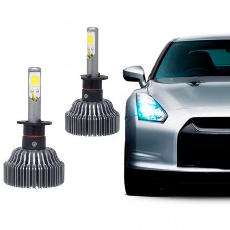 Kit Lâmpada Super LED Automotiva Tech One H3 - 12V - 6000K - 36 Watts - 6000 Lumens