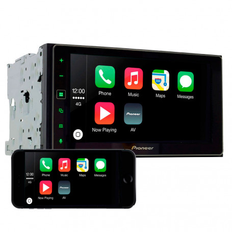 Central Multimidia Pioneer 2 Din SPH-DA138TV - TV, Apple CarPlay e Android