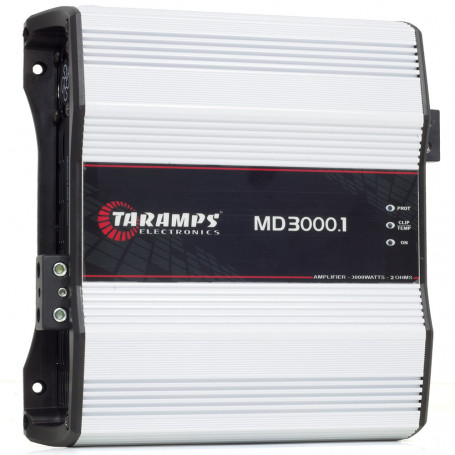 Módulo Amplificador Digital Taramps MD 3000 1 Canal 3000 Watts RMS 2 Ohms Som Automotivo