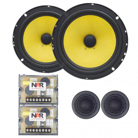 "Kit 2 Vias 6"" NAR Audio 650-CS-3 Kevlar - 120 Watts RMS"