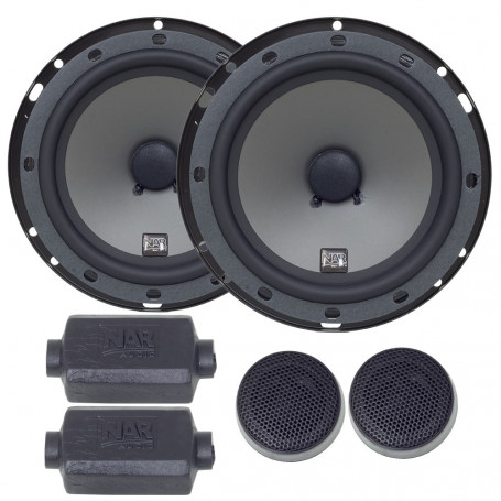 "Kit 2 Vias 6"" NAR Audio 600-CS-1 PP - 100 Watts RMS"