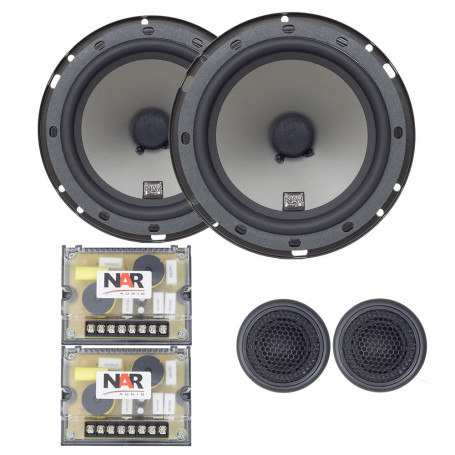 "Kit 2 Vias 6"" NAR Audio 600-CS-2 PP - 110 Watts RMS"