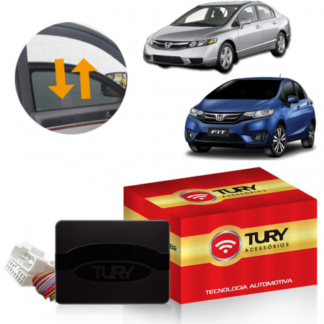 Módulo de Vidro Tury Plug & Play Civic, Fit 4 Portas PRO 4.8 DP