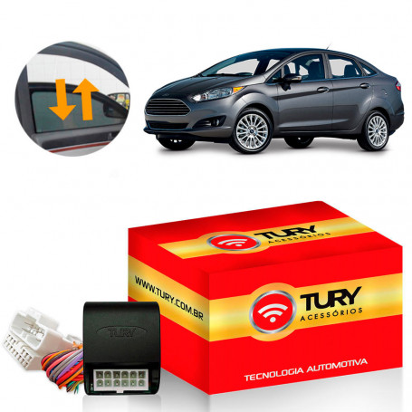 Módulo de Vidro Tury Plug & Play New Fiesta Sedan Powershift 4 Portas LVX 5 CH