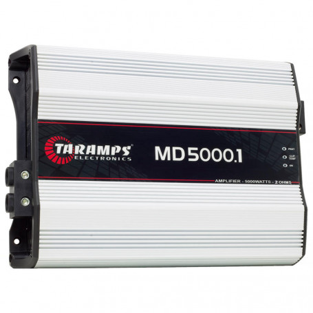 Módulo Amplificador Digital Taramps MD 5000 1 Canal 5000 Watts RMS 2 Ohms Som Automotivo