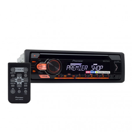 CD Player Automotivo Pioneer DEH-S1180UB Mixtrax - USB e Aux