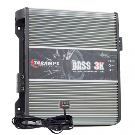 Módulo Amplificador Digital Taramps Bass 3K 1 Canal 3000 Watts RMS 1 Ohm Som Automotivo
