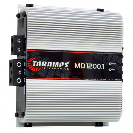 Módulo Amplificador Digital Taramps MD 1200 1 Canal 1200 Watts RMS 4 Ohms Som Automotivo