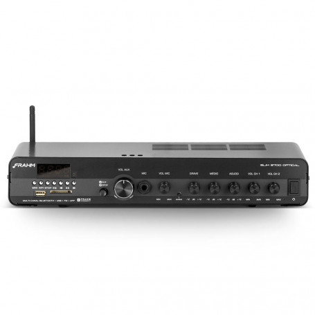 Receiver de Som Ambiente Frahm SLIM 3700 Multichannel Optical APP FM USB - Até 30 Caixas