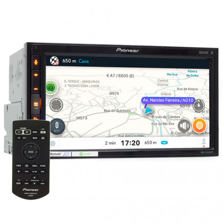 "Central Multimídia Pioneer 2 Din DMH-ZS5280TV Tela 6,8"" Apple Car Play, Android Auto e WebLink"