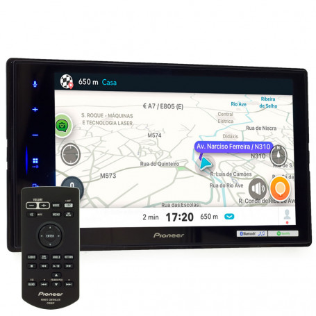 "Central Multimídia Pioneer 2 Din DMH-ZS8280TV Tela 8"" Touchscreen Capacitiva Apple Car Play, Android Auto e WebLink"