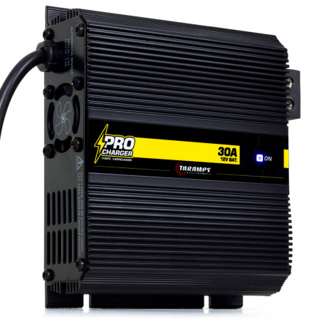 Fonte Automotiva Digital Taramps Pro Charger 30A Bivolt 14.4V Carregador Som Automotivo