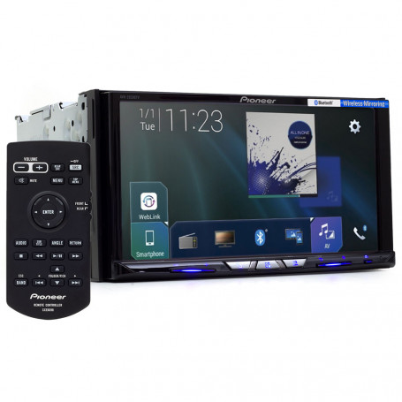 "DVD Player Automotivo Pioneer AVH-Z9280TV Tela 7"" Espelhamento Wi-Fi Apple Car Play e Android Auto"