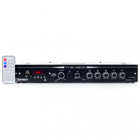 Amplificador Receiver Taramps THS 4600 Multi Canais USB SD Rádio Bluetooth 250W RMS Residencial Bar