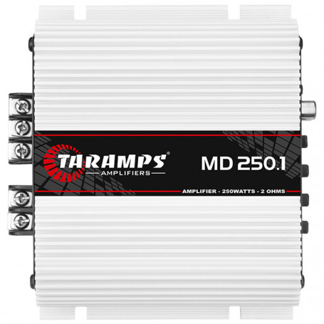 Módulo Amplificador Digital Taramps MD 250 1 Canal 250 Watts RMS 2 Ohms Som Automotivo
