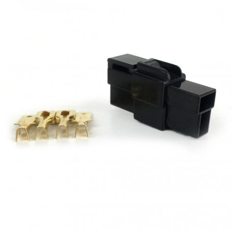 Kit Conector Technoise - Ev - 2 Vias - Trava - Preto