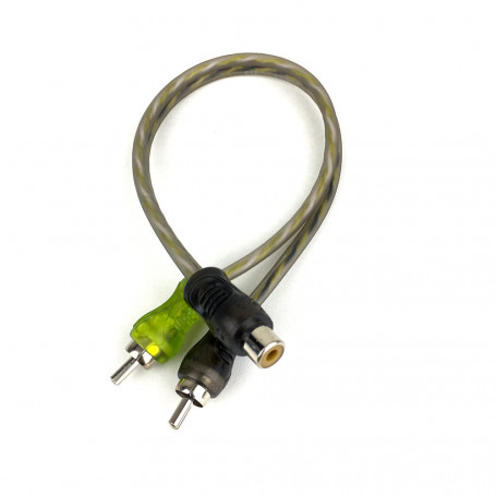 Cabo Y 2M/1F Technoise - Series 200P - 20 Cm - 4 Mm - Conector Pvc - R