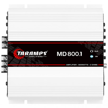 Módulo Amplificador Digital Taramps MD 800 1 Canal 800 Watts RMS 2 Ohms Som Automotivo